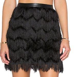 Sam Edelman Feathered Fringe Skirt Size 10